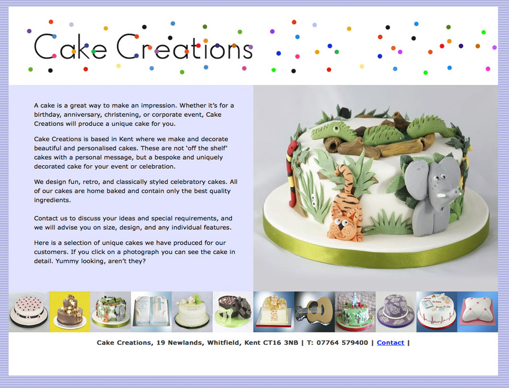 Cake Creations Website